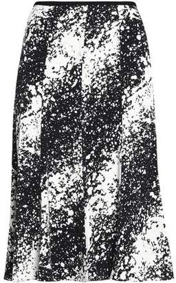 Diane von Furstenberg Pleated Printed Stretch-Silk Skirt