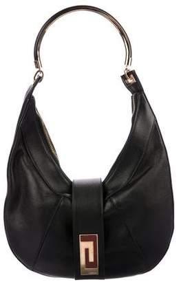 Gianni Versace Leather Hobo Bag