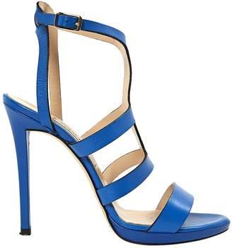 Alberto Moretti Blue Leather Sandals