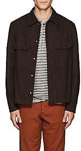 Barena Venezia Men's Birdseye Cotton-Blend Shirt Jacket - Brown