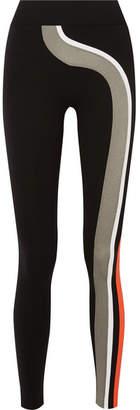NO KA 'OI NO KA'OI - Nohona Palua Striped Stretch Leggings - Black