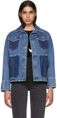 McQ Indigo Denim Boxy Jacket