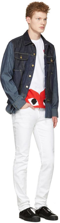 Comme des Garçons Play White Half Heart T-Shirt 4