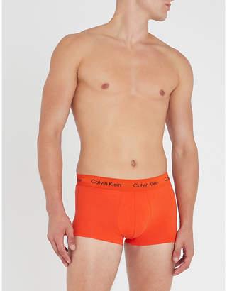 Calvin Klein Pack of three logo-detail jersey trunks