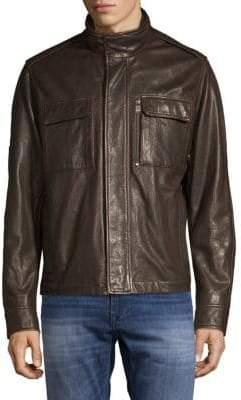 HUGO BOSS Classic Leather Jacket