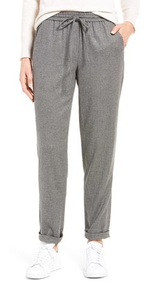 Women's Nordstrom Collection Greta Flannel Drawstring Pants $199 thestylecure.com