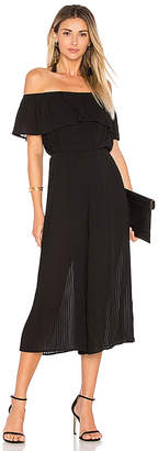 Endless Rose Pleated Off Shoulder Jumpsuit in Black $140 thestylecure.com