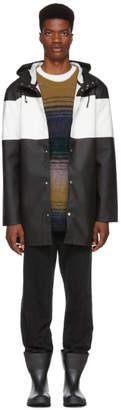 Stutterheim Black and White Striped Stockholm Raincoat