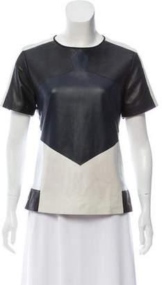 Jonathan Simkhai Colorblock Short Sleeve Top