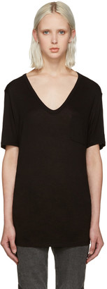 T by Alexander Wang Black Jersey Pocket T-Shirt $85 thestylecure.com