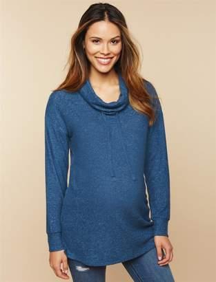 Motherhood Maternity Cowl Neck Maternity Sweatshirt