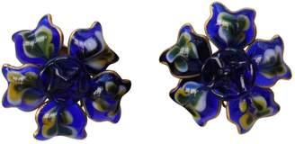 Chanel Vintage Blue Glass Earrings