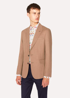 Paul Smith Men's Tailored-Fit Tan Camel Wool Blazer
