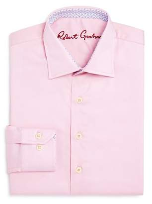 Robert Graham Boys' Solid Dress Shirt - Big Kid