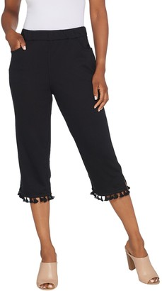 Factory Quacker French Terry Capri Pants with Tassel Trim
