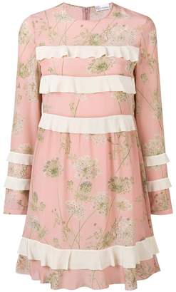 RED Valentino ruffle detail longsleeved dress