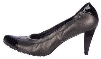 3fd4494cf906 Stuart Weitzman Metallic Leather Cap-Toe Pumps