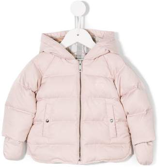 Burberry Hooded Down-filled Puffer Jacket with Mittens