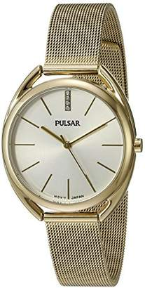 Pulsar Women's 'Jewelry' Quartz Gold-Toned Dress Watch (Model: PG2038)