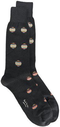 Paul Smith polka dot rainbow socks $30 thestylecure.com