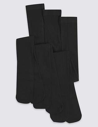 Marks and Spencer 3 Pairs of School Tights(4-14 Years)