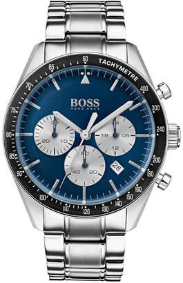 HUGO BOSS BOSS Men's Chronograph Trophy Stainless Steel Bracelet Watch 44mm