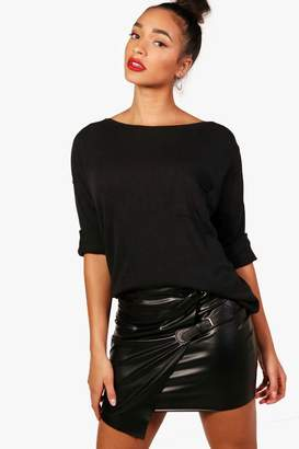 boohoo Oversized Pocket Front Knitted Top