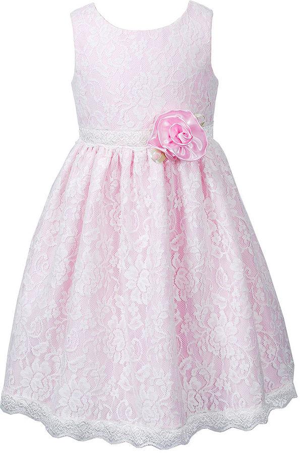 Sweet Heart Rose Girls Dress, Little Girls Lace Dress