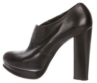CNC Costume National Leather Semi Pointed-Toe Booties
