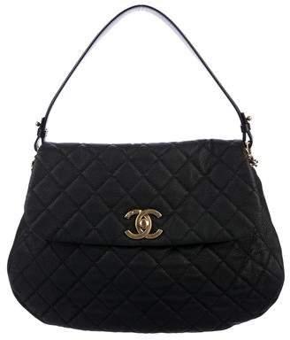 Chanel Iridescent Caviar Top Handle Flap Bag