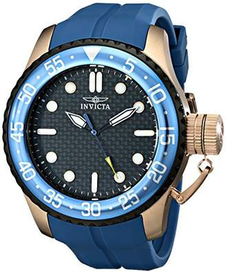 """Invicta Men's 17512SYB """"Pro Diver"""" 18k Rose Gold Ion-Plated Stainless Steel Watch with Rubber Strap"""