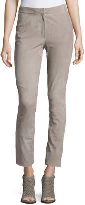 Escada Lakera Suede Slim Ankle Pants