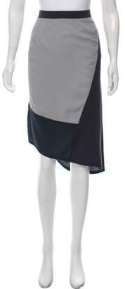 DKNY Colorblock Knee-Length Skirt w/ Tags