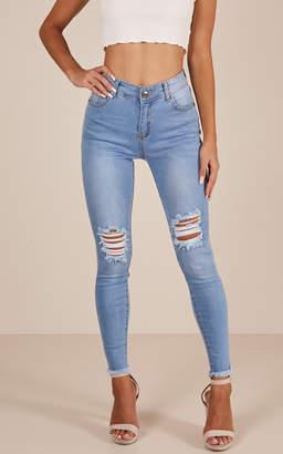 Showpo Renee skinny jeans in mid wash
