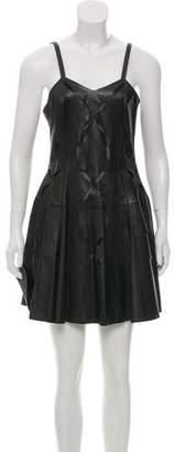 Versus Laser Cut Leather Dress