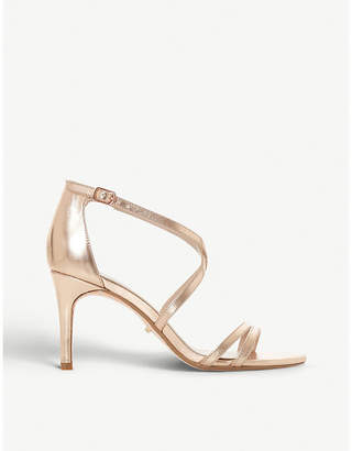 Dune Mariela metallic heeled sandals