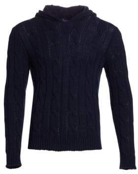 Ralph Lauren Purple Label Cashmere Cabled Hoodie Sweater