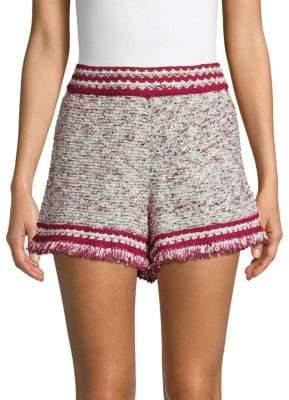 M Missoni Fringed Textured Shorts