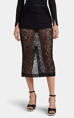 Laura Garcia Collection Women's Lace Bloomer-Lined Pencil Skirt - Black