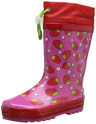 Playshoes GmbH Unisex Kids' Girls Wellies Strawberries Wellington Boots, (Pink 18), 30/31 EU