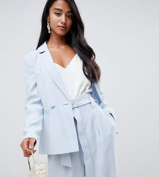 Forever New Petite relaxed blazer in sky blue