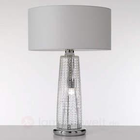 Moderne Glas-Tischleuchte Perle, transparent