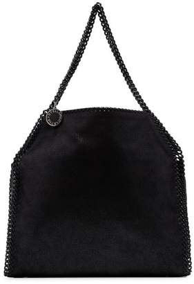 Stella McCartney black Falabella chain detail faux leather shoulder bag