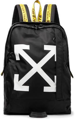 Off-White Off White Easy Logo-Print Canvas Backpack - Men - Black