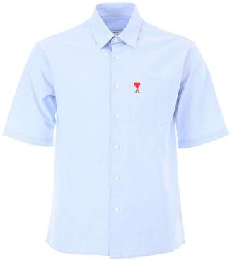Ami Alexandre Mattiussi Oxford Shirt With Embroidery