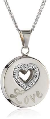 "Crystelle 500244410-42R-Women's Pendant Necklace Silver 925/1000 2.75 g Swarovski Crystal Love - 42"""
