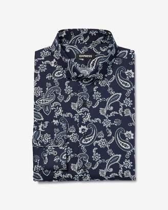Express Extra Slim Paisley Print Cotton Dress Shirt