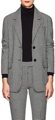 Derek Lam 10 Crosby Women's Checked Wool-Blend Flannel Two-Button Blazer