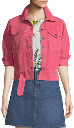 MiH Jeans Paradise Cropped Button-Front Corduroy Jacket