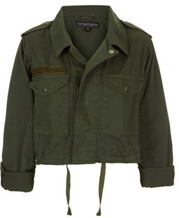 Topshop Petite Cropped Army Jacket